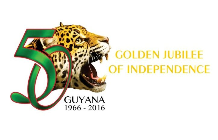 Postcard of Guyana's Golden Jubilee of Independence-White